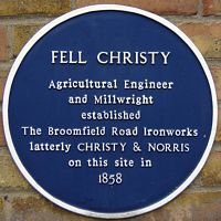 Fell Christy blue plaque